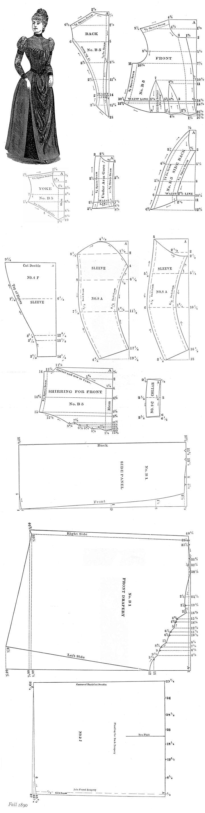 Выкройки платье 19 век